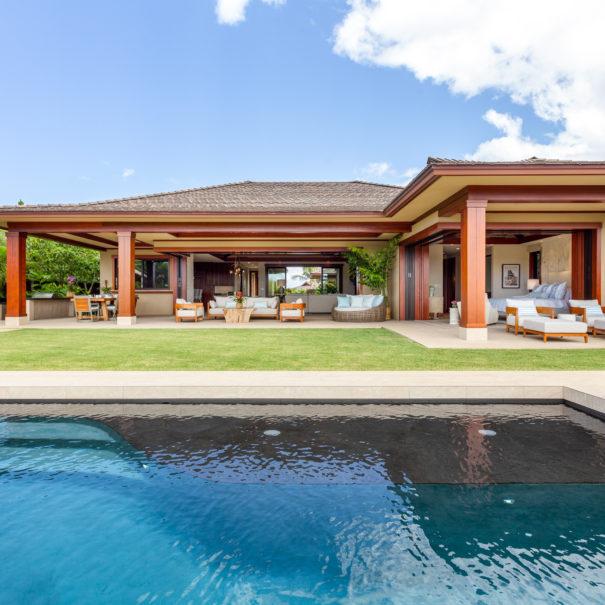 View over pool facing Hualalai Resort Home