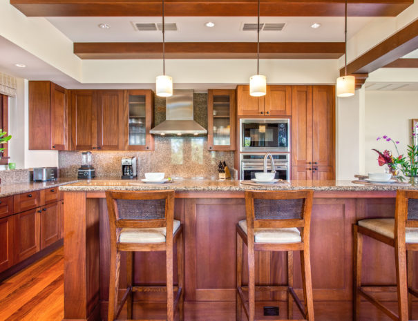 View of the kitchen in Hali'ipua 10 property in Hualalai.